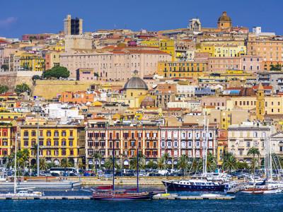 Cagliari, vista dal Porto