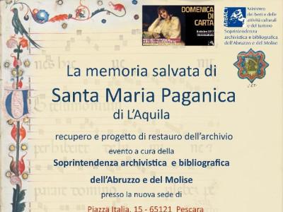 La memoria salvata di Santa Maria Paganica
