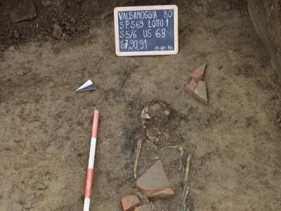 Sepoltura di età romana rinvenuta nei pressi di Via Cassola