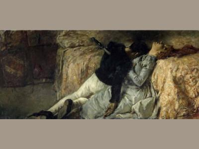 Gaetano Previati: Paolo e Francesca, c. 1887. Bergamo, Fondazione Acca