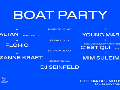 "OSS - ORTIGIA SOUND SYSTEM - ""BOAT PARTY"""