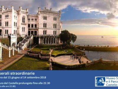 APERTURE SERALI STRAORDINARIE Museo Storico e il Parco del Castello di