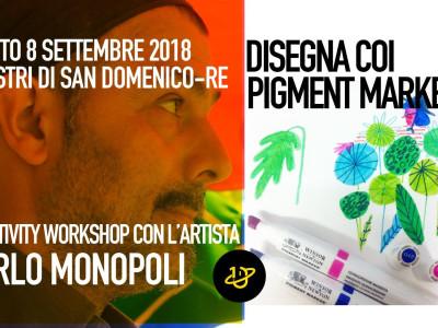 DISEGNA COI PIGMENT MARKERS - Workshop di tecniche pittoriche