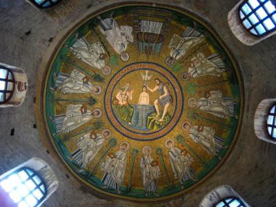 Battistero degli Ariani, la cupola a mosaico