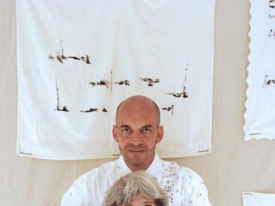 Maria Lai e Antonio Marras [foto © Daniela Zedda].