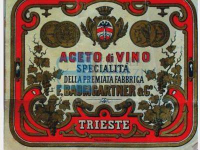 Etichetta Baumgartner & C. (fabbricanti aceto