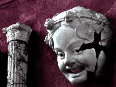 Maschera teatrale Parma romana: Maschera teatrale del Teatro romano di Arma