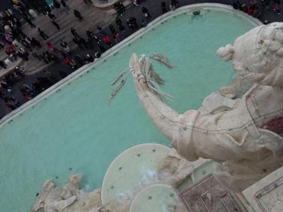 Veduta della Fontana di Trevi da Palazzo Poli