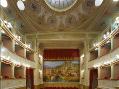 Teatro Clitunno. Interno. La sala verso il bo Ficola, Paolo; jpg; 669 pixels; 768 pixels