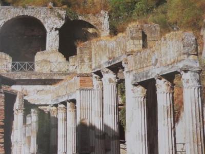 Scavi di Ercolano, veduta della palestra.