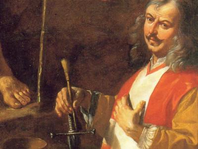 BY Di Mattia Preti - Self-portrait - detail of predica di San Giovanni Battista, Pubblico dominio, https://commons.wikimedia.org/w/index.php?curid=39826897