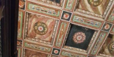 La Sala Greca - particolare del soffitto