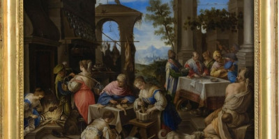 Pittore fiammingo - banchetto del ricco Epulone