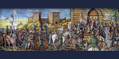 Mosaico in ceramica policroma di Caltagirone - Piazza di Santa Maria del Monte