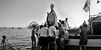 Cetraro (CS), processione a mare in onore di San Benedetto da Norcia