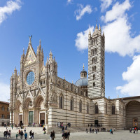 In Romanesque-Gothic style, Cathedral of Siena is one of the most significant Italian cathedrals. The building seems to date back to the mid-twelfth century, settling on a pre-existing building, but was completed only in the thirteenth...