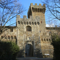 The complex was built during the twelfth century and belonged toHospital of Santa Maria della Scala in Siena. During the fifteenth century restoration work was carried out that modified the original appearance of Medieval castle, giving...