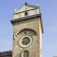 Clock Tower is located in Piazza delle Erbe, between Palazzo della Ragione and Rotonda di San Lorenzo. The square-shaped tower was erected between 1472 and 1473 by architect Luca Fancelli, at the service of Marquis of Mantua Ludovico III...