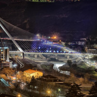 "The bridge built in Cosenza by the archistar Santiago Calatrava is an important architectural mark in Italy. The structure, which joins the two districts of the city separated by Crati river, is characterized by the ""antenna"", the element..."