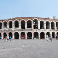 Verona's Arena is a Roman amphitheater in the historical center. It is one of the icons of the city along with the figures of Romeo and Juliet. It is one of the great buildings that have characterized the playful Roman architecture...
