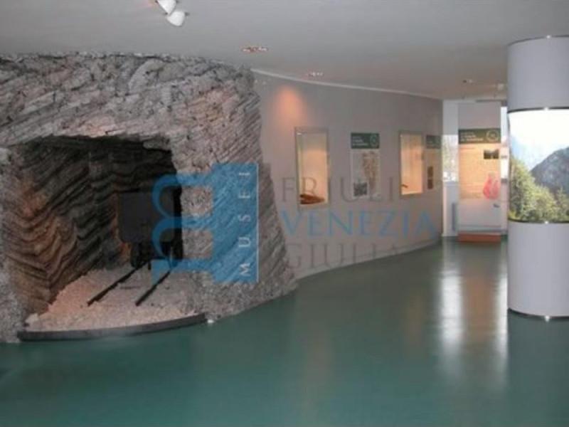 La galleria della miniera e le teche espositi
