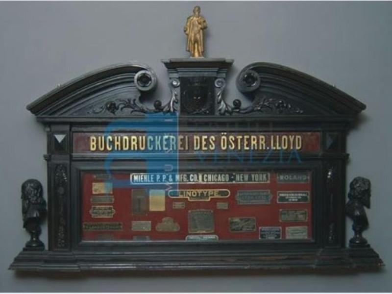 Vetrinetta della Tipografia del Lloyd austria