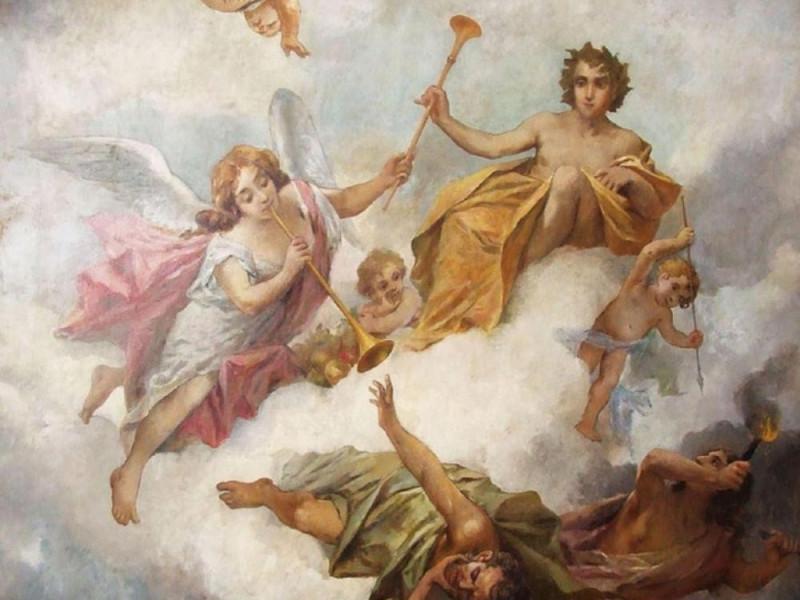 affresco del Palazzo Brambilla Morpurgo