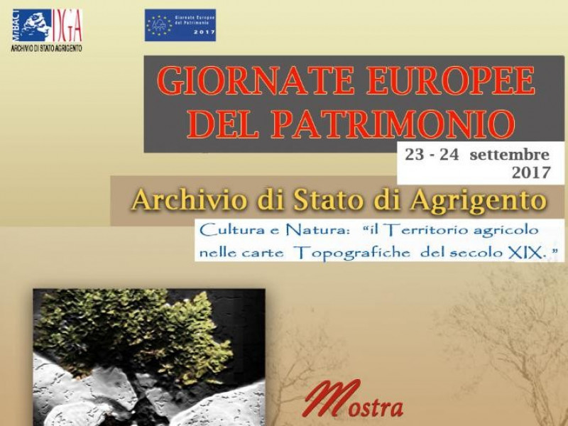 """GIORNATE EUROPEE DEL PATRIMONIO 2017  - Cultura e Natura: """"il territor"""