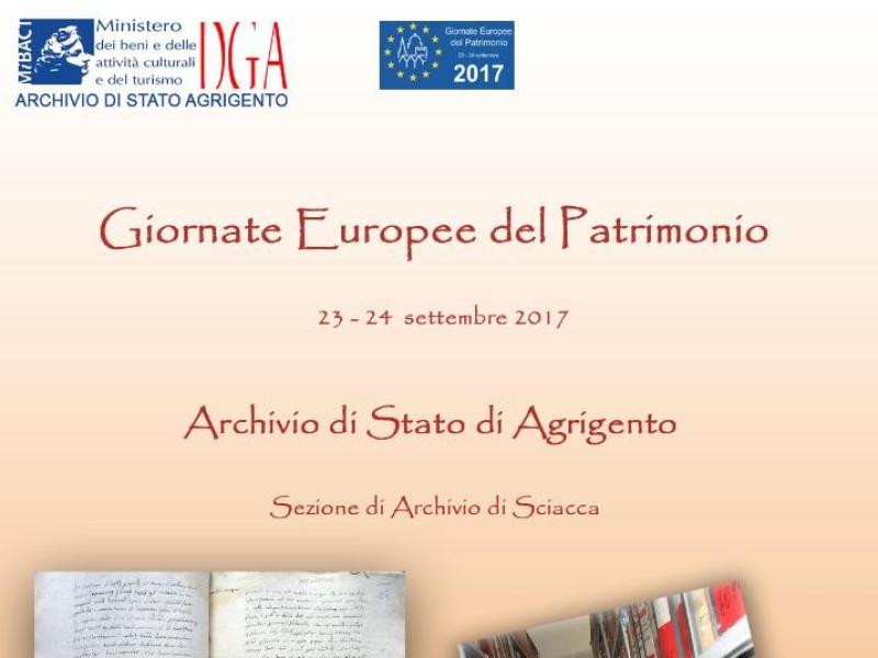 GIORNATE EUROPEE DEL PATRIMONIO 2017  - Cultura e Natura - Visite guid