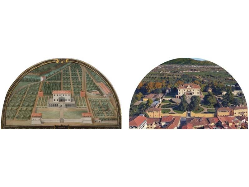 Giusto Utens, Villa di Poggio a Caiano, 1599-1602 e la Villa ripresa d