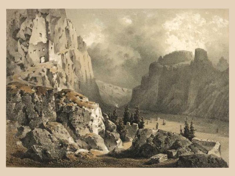 Antica raffigurazione del castello (1850)