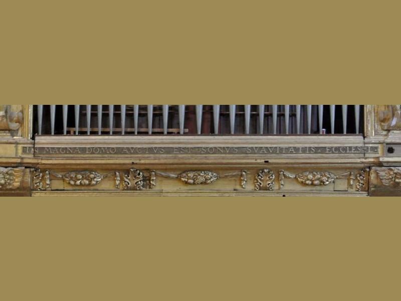 Iscrizione in cantoria