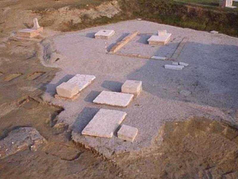 Voghenza, Necropoli romana - Veduta panoramic