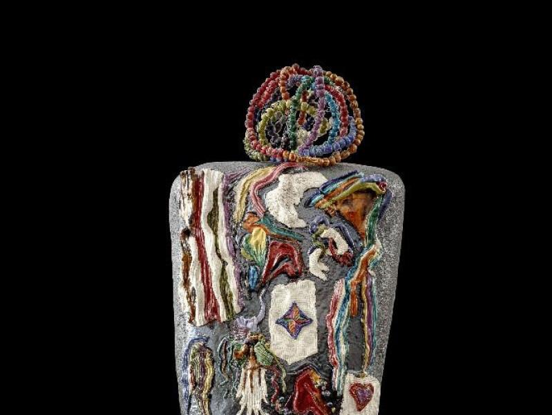 L'Olmo Racconta 1997 - Scultura in ceramica policroma