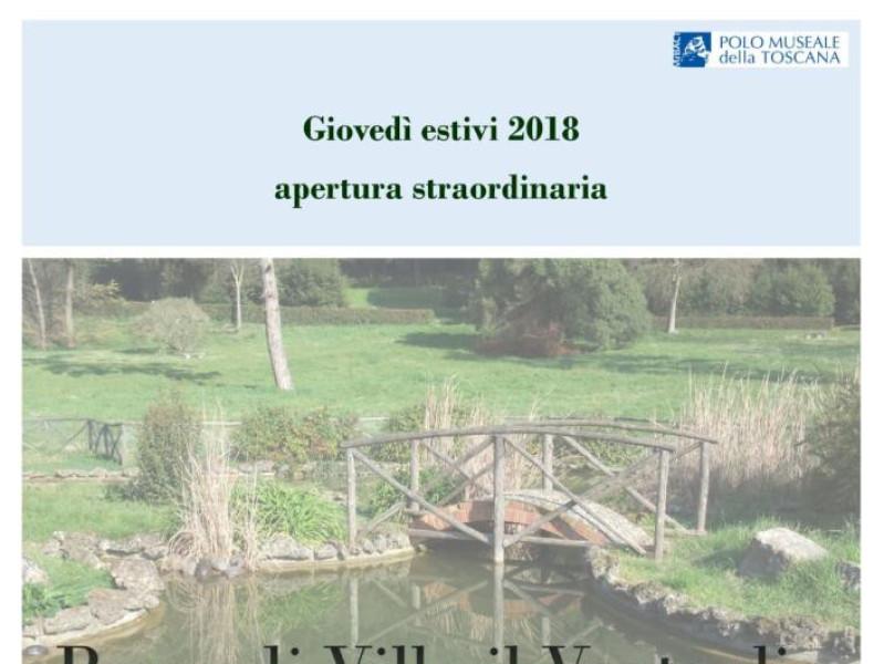 Parco Villa il Ventaglio aperture straordinarie estate 2018
