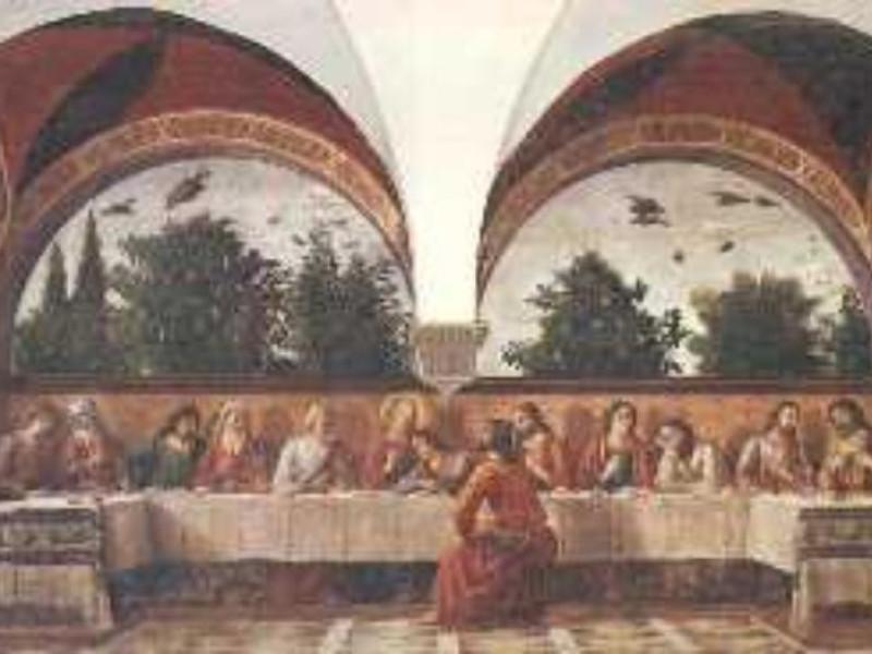 Firenze, CENACOLO DI OGNISSANTI DI DOMENICO GHIRLANDAIO