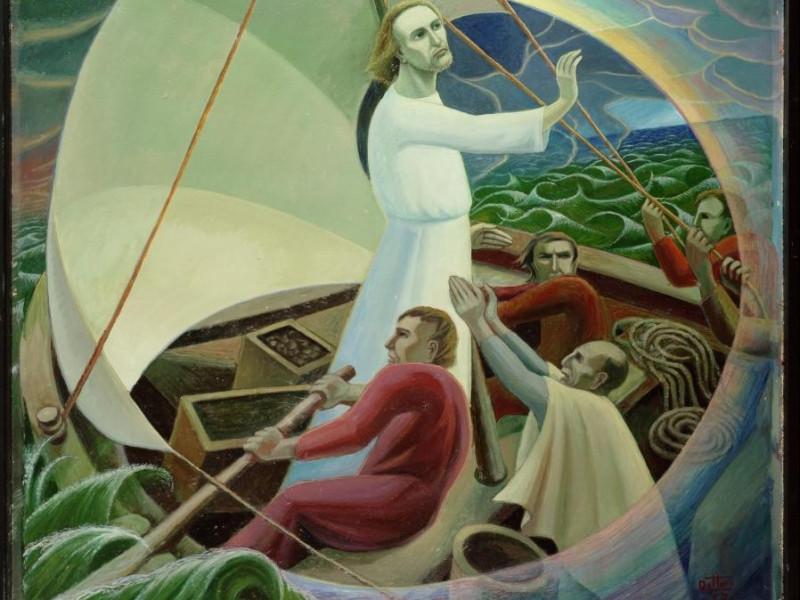 Gerardo Dottori, Gesù placa la tempesta, 1957 Vaccai, Roberto/ Scarpelloni, Mauro