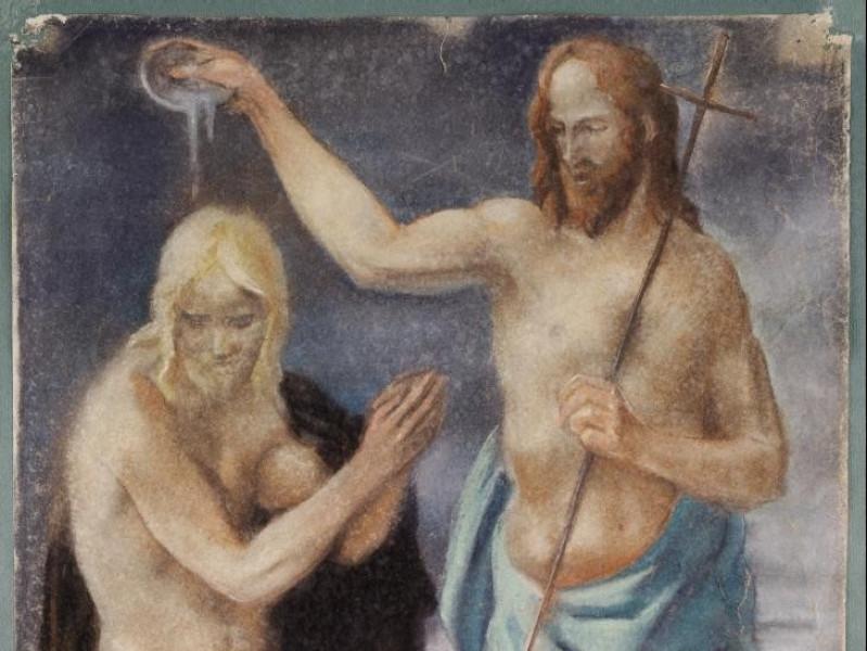 Alfredo Biagini, Battesimo di Gesù, 1949 Vaccai, Roberto/ Scarpelloni, Mauro