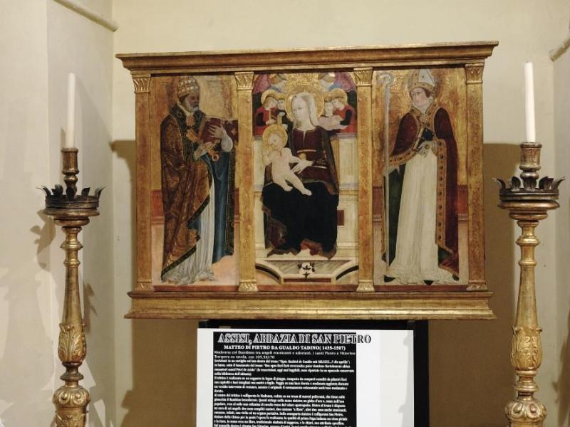 Matteo da Gualdo. Trittico. Madonna con Gesù  Fedeli, Marcello; jpg; 2126 pixels; 1417 pixels