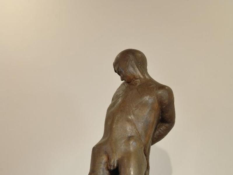 Pericle Fazzini. Scultura. Il fucilato. 1945- Fedeli, Marcello; jpg; 1417 pixels; 2126 pixels