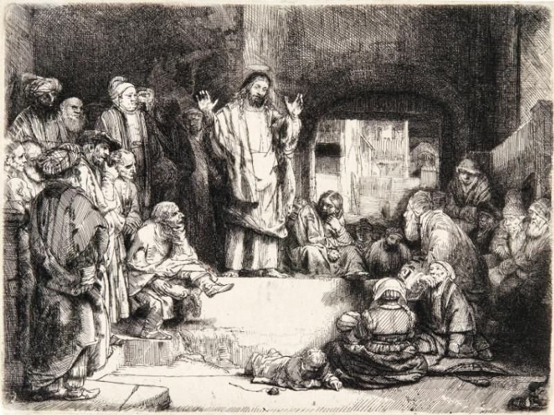 Gesù predica al popolo - Mostra Rembrandt Cosenza