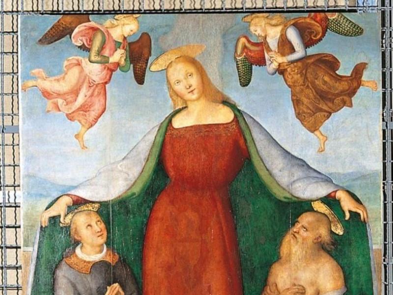 Pietro Vannucci detto il Perugino, Madonna de Castignani, Sante; jpg; 605 pixels; 768 pixels