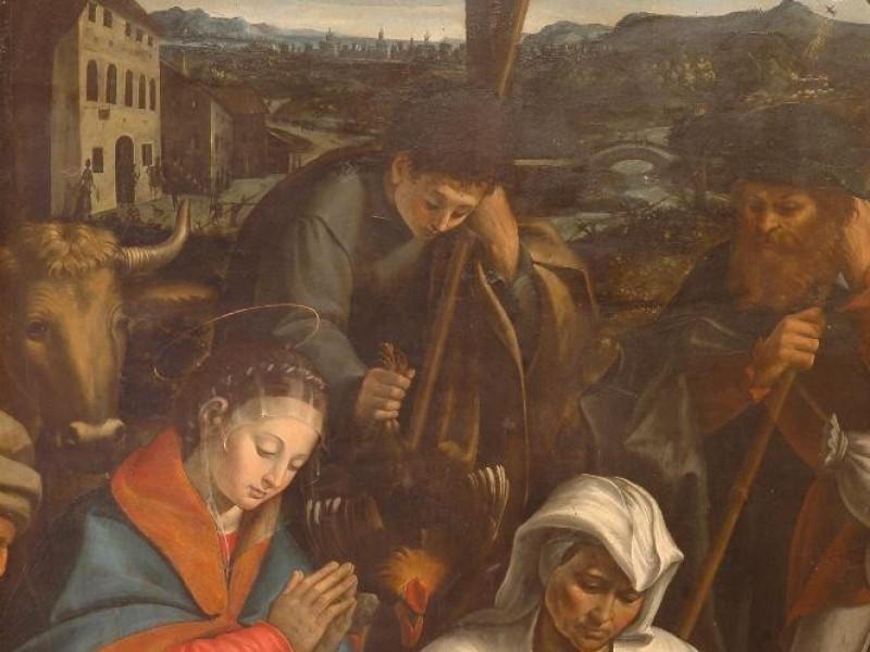 Dono Doni, Adorazione dei pastori Castignani, Sante; jpg; 2000 pixels; 3008 pixels