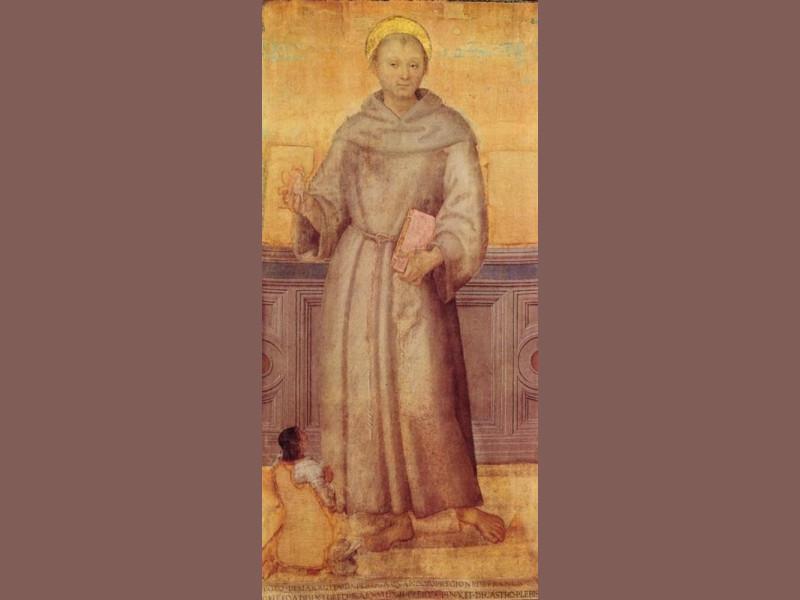 Pietro Vannucci detto il Perugino, Sant'Anton Castignani, Sante; jpg; 400 pixels; 868 pixels