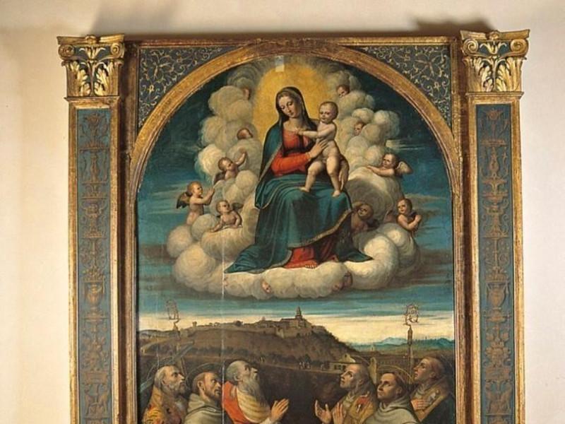 Jacopo Siculo e bottega, Madonna in gloria e  jpg; 623 pixels; 768 pixels