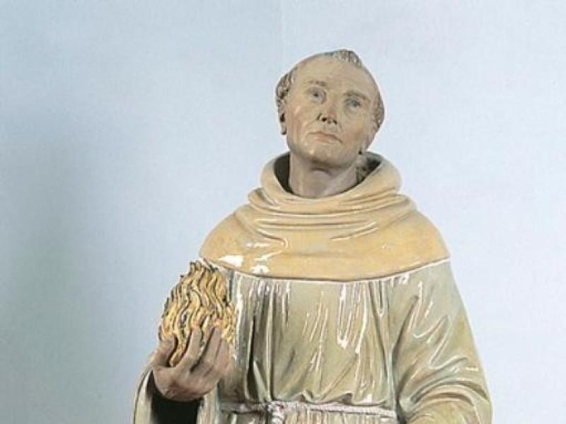 Scultore robbiano, Sant'Antonio di Padova, me jpg; 393 pixels; 768 pixels