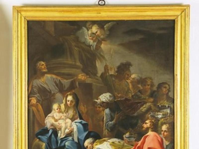 Corrado Giaquinto, Adorazione dei Magi, 1750  Castignani, Sante; jpg; 400 pixels; 483 pixels
