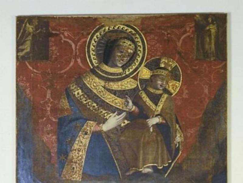 Ascensidonio Spacca, Madonna di Costantinopol Castignani, Sante; jpg; 400 pixels; 626 pixels