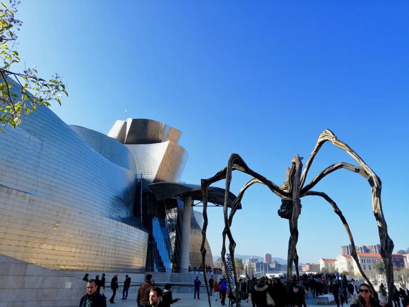 Il Guggenheim con il ragno Maman
