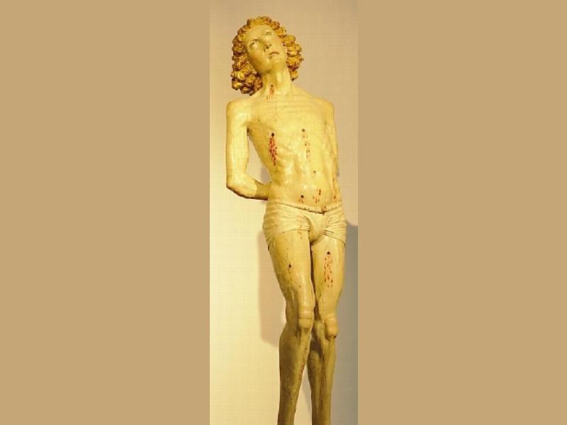 Scultore umbro, San Sebastiano, fine del XV s Giorgetti, Alessio/ Paparelli, Daniele; jpg; 400 pixels; 1145 pixels